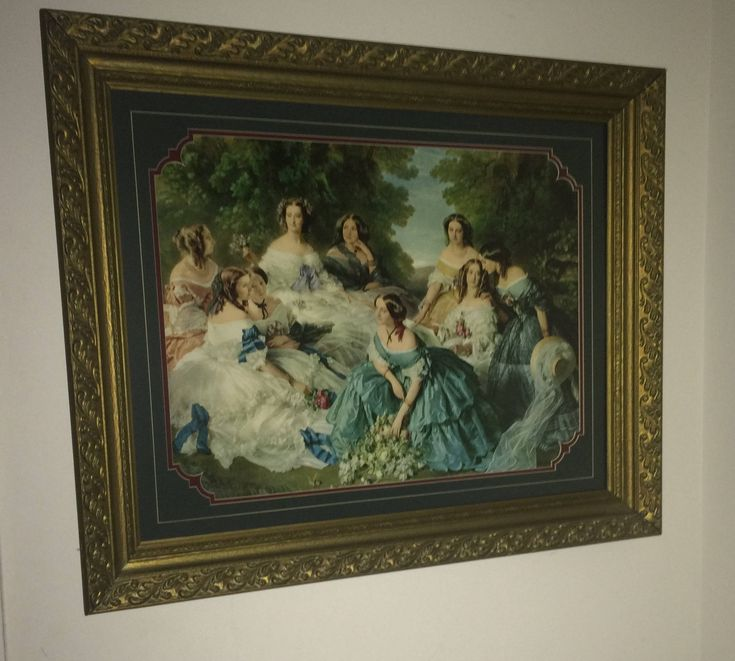 Beautiful Victorian Picture with Gold Frame by AdysAtticShop on Etsy