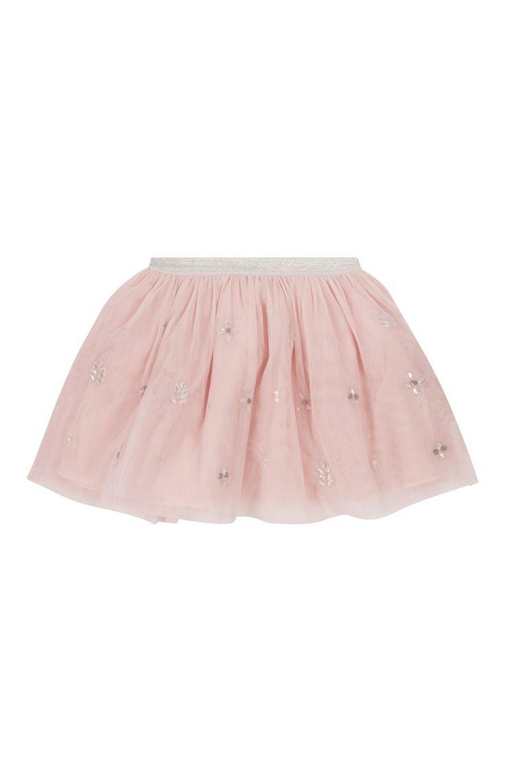 Primark - Saia tipo tutu com enfeites cor-de-rosa