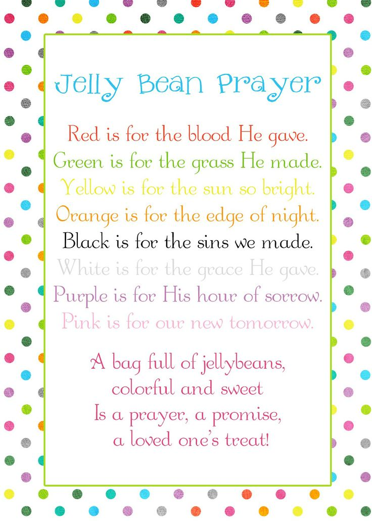 36 best girls camp secret sister ideas images on pinterest jelly bean prayer poem easter freebie great for a visiting teaching or yw gift negle Gallery