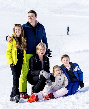 Royal Family of Prince Constantijn and Princess Laurentien with their children - Lech 2016
