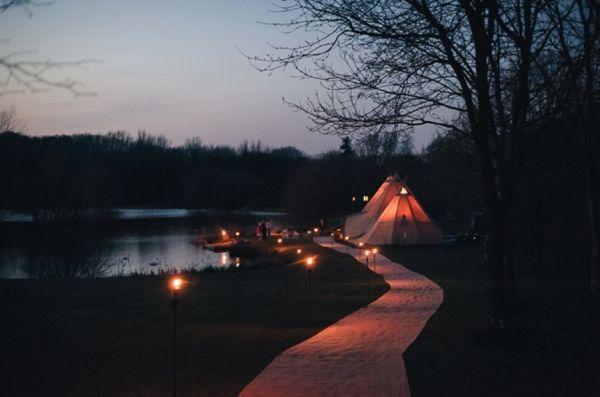 Tipi Lighting Evening Ideas http://www.tinoandpip.co.uk/