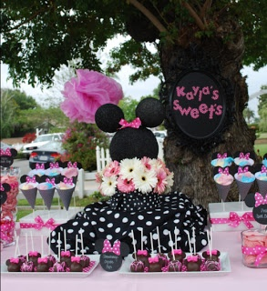 **Ideas for Minnie Mouse Centerpiece** My Sweet Celebrations: Minnie birthday party