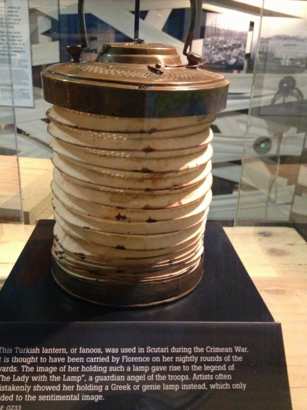 """This lantern is from the Florance Nightingale Museum in London.  It was the lamp she carried during the war and that is how she got the name """" Lady with the Lamp"""""""