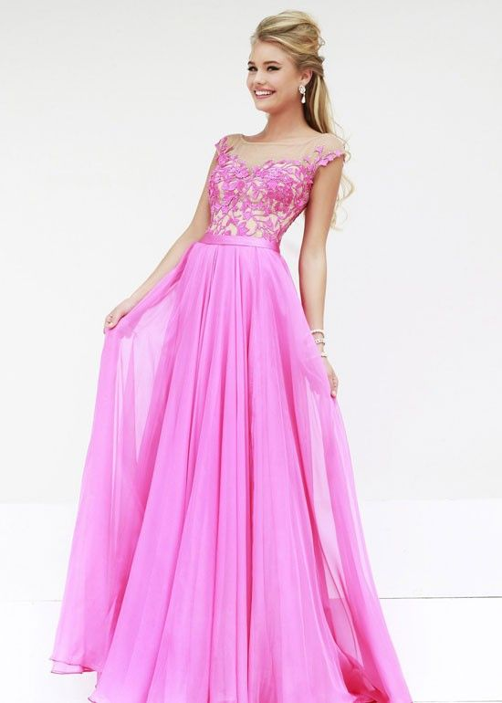 2014 Sherri Hill 11151 Beaded A-Line Pink/Nude Lace Evening Gown