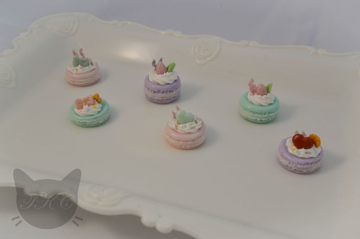 All the mini pastel macaroon necklace charms lined up! Don't they look good enough to eat? Don't be too tempted because they are all handmade from cold porcelain clay. Available for purchase soon.