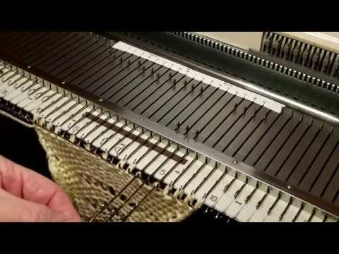 Feather and Fan (18 Stitch) for knitting machines - 1 of 3 - YouTube