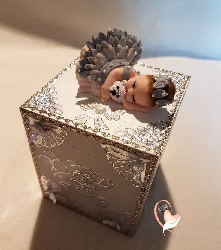 Tirelire bebe fille avec son ours – Au coeur des arts – Enfants – Au coeur des …  – Cadeaux