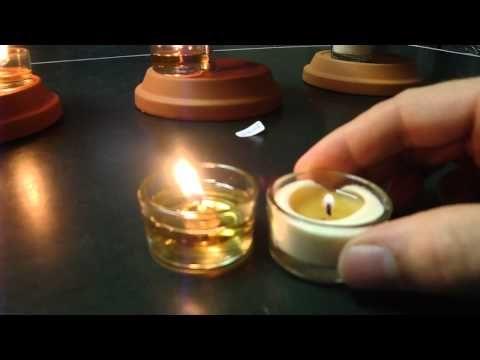 So brennen Bio Kerzen besser - einfach Docht umdrehen - Kerzenflamme erhöht beim Biomasse Teelicht - YouTube