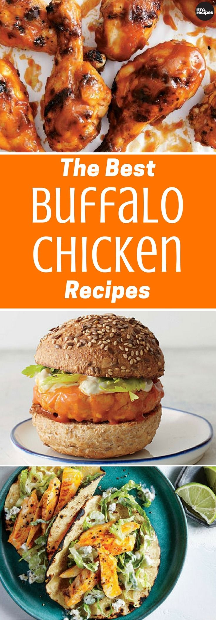 Buffalo Chicken is traditionally nothing more than deep-fried chicken wings tossed with hot sauce and butter. However, while wings are great (as you'll see), there's more to Buffalo Chicken than its bar chow origins suggest. The crowd-pleasing rich and warming flavor profile lends itself to a whole host of dishes. From tacos to meatball sliders to five-ingredient pizza, here are the best recipes for when you want something that's a little saucy and a bit spicy.   MyRecipes
