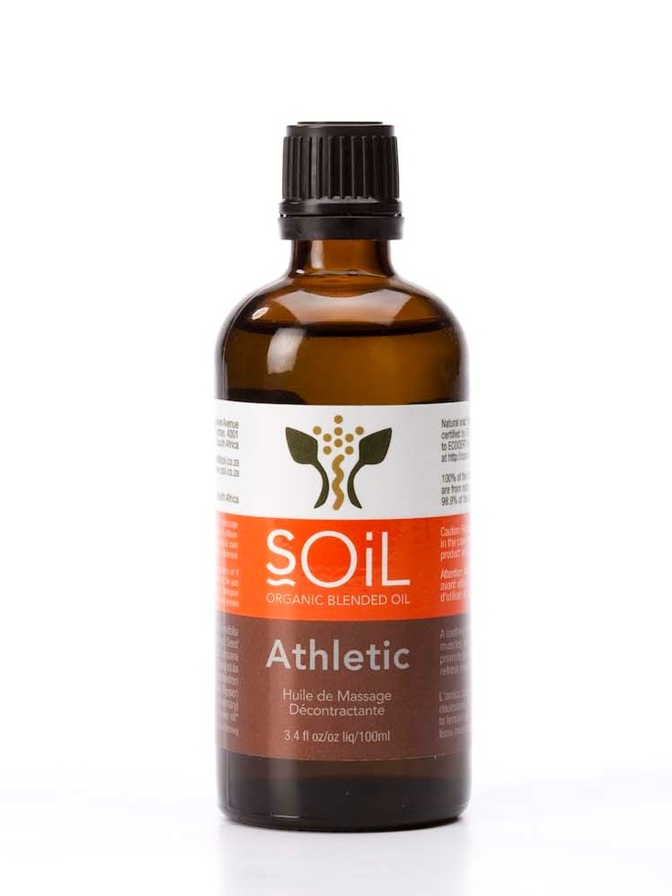 Athletic Organic Massage Oil A Soothing Blend With Arnica