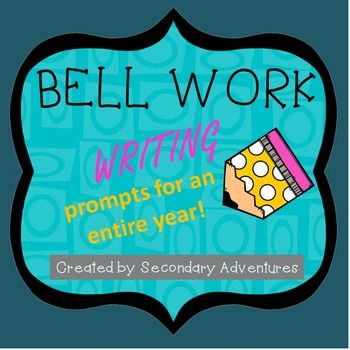 This folder contains weekly bell work prompts for an entire year. The bell work…