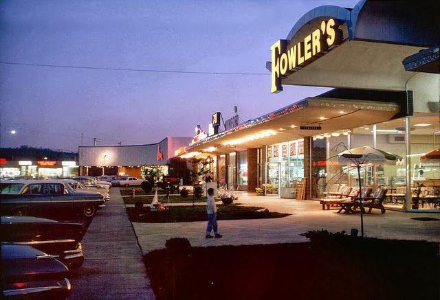 Oak Ridge Shopping Center -mid 60' :) vintage everyday: Colour Photos of Life in Oak Ridge, Tennessee, 1960's