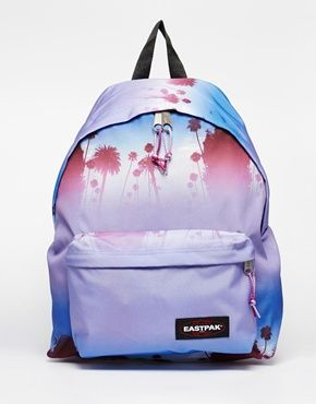 Enlarge Eastpak Padded Pak'r with Palm Tree Print