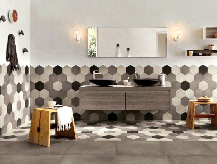 How To Achieve Beauty With Hexagon Bathroom Tile?
