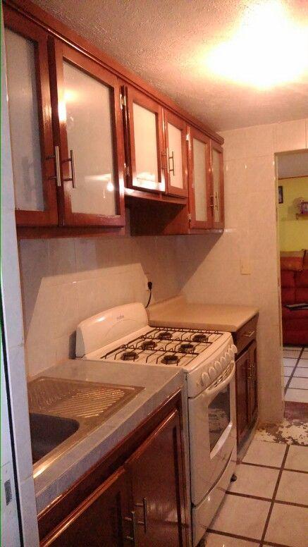 17 best images about muebles para cocina y cocinas - Cocinas color nogal ...