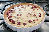 Raspberry Walnut Tart Recipe on SimplyRecipes.com
