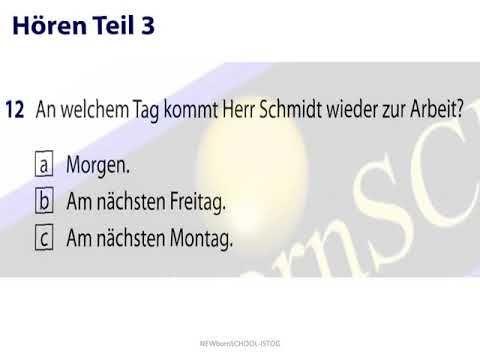 start deutsch 1 modelltest