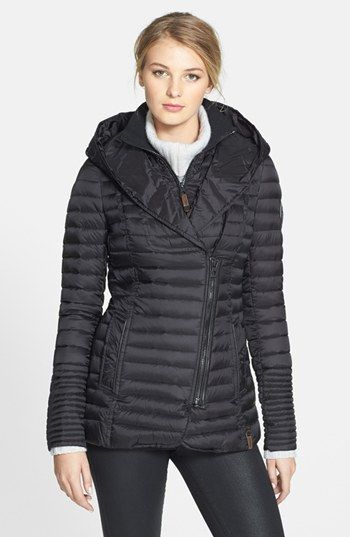 Rudsak 'Sana' Hooded Asymmetrical Zip Down Jacket ...