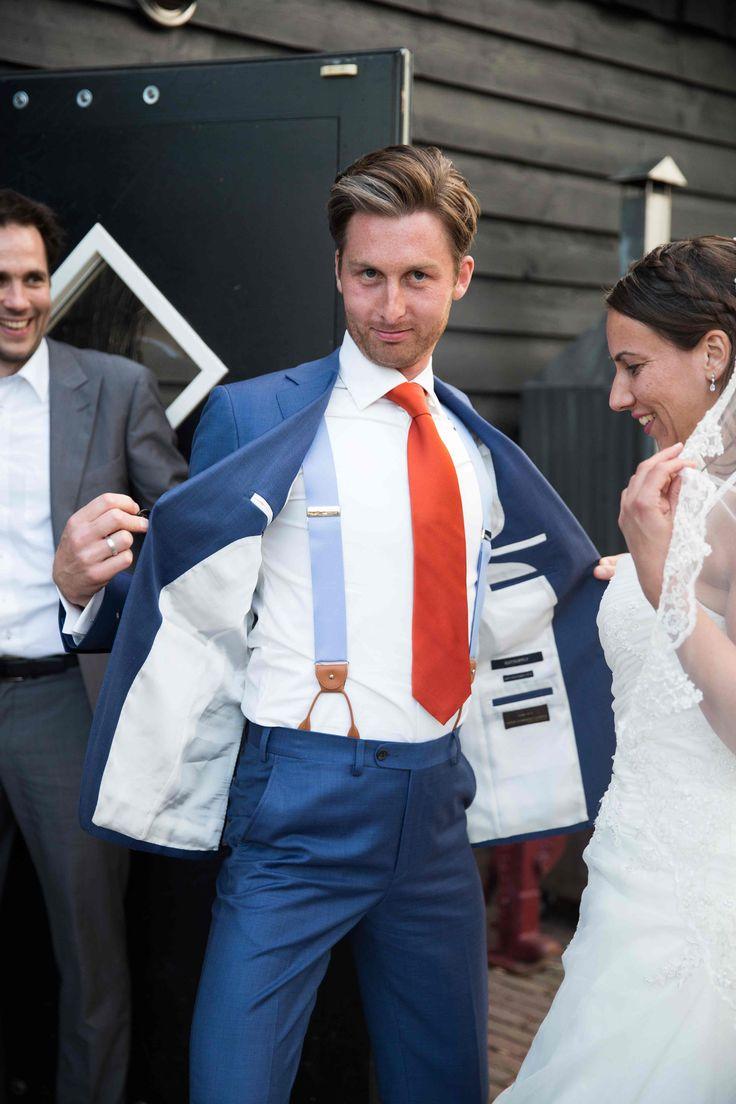 Bretels van de bruidegom. Koop ze op www.bretels.nl.
