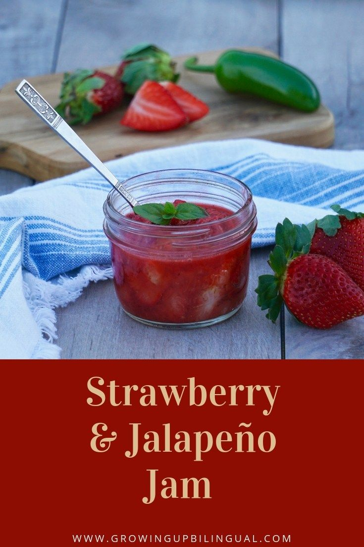 This Strawberry Jalapeno Jam is so easy to make! Use it on pork or directly on t…