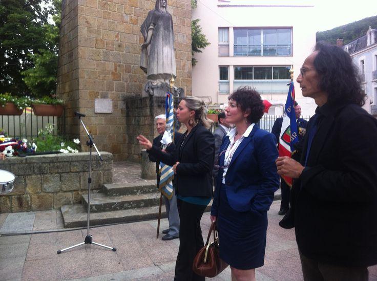 Cérémonie Hommage à Jean Moulin en présence du Préfet de Foix