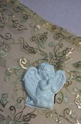 Hűtőmágnes angyalos fehér fekvő