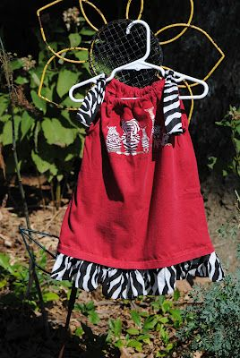 T-Shirt Makeover - Turn a t-shirt into a dress for your little ones!