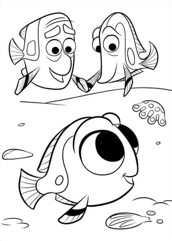 Dory Coloring Pages Nemo Coloring Pages Disney Coloring Pages