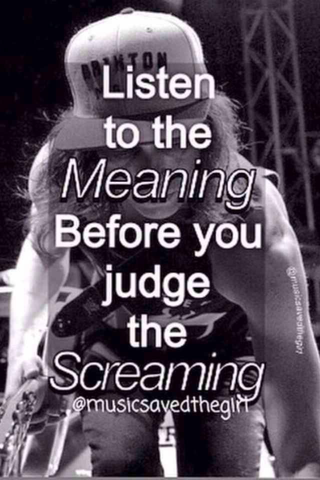 YES PEOLE ALWAYS JUDGE SCREMO AND I HATE IT