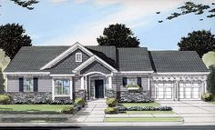 58) 1563 sq ft Elevation of Bungalow   Craftsman   Ranch   House Plan 50089