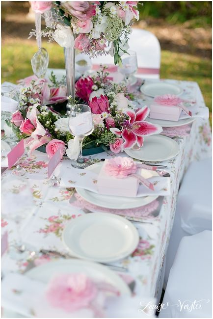 View of table setting with all the details.