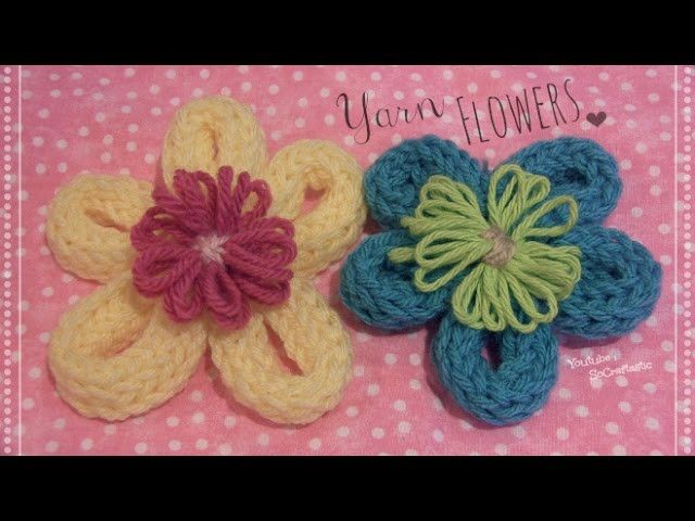 Yarn Flower - How To - Loom Knitting DIY