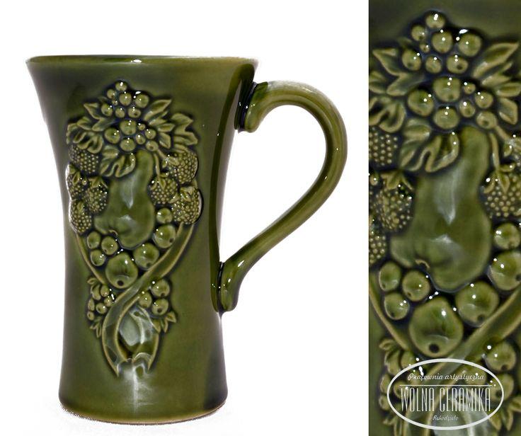 Mug with floral decor.