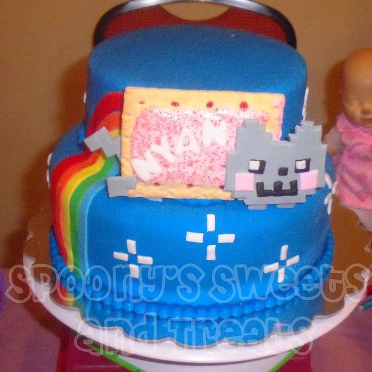 Nyan Cat Cake By SpoonyBakesCake