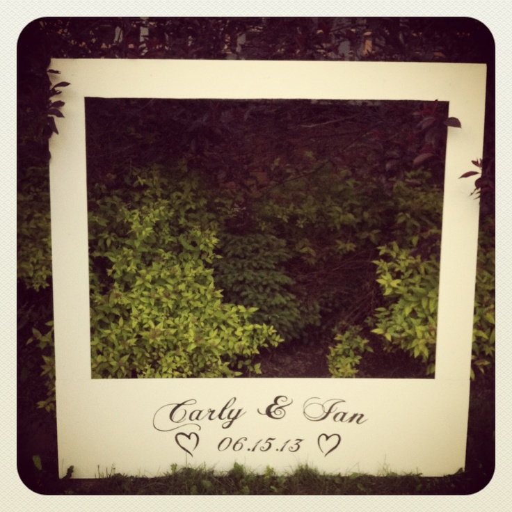 custom photography prop giant polaroid photo frame wedding decor fun from prim pickins prim pickins pinterest wedding photos and polaroid photos