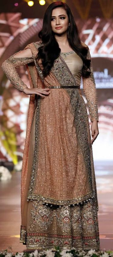''Pinterest: @Littlehub  || Dreamy Lehenga's ❤•。*゚ || Asifa Nabeel Collection Bridal Couture Week 2016