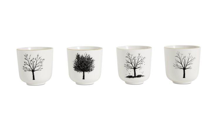 Christmas accessories - 4 Seasons mug - White - Ceramic