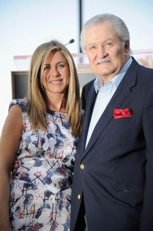 Jennifer Aniston and father John Aniston