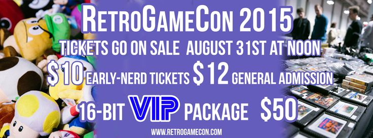 Join us for RetroGameCon 2015 Saturday November 14th, Syracuse New York at the New York State Fairgrounds  Info and Tickets available here: www.RetroGameCon.com