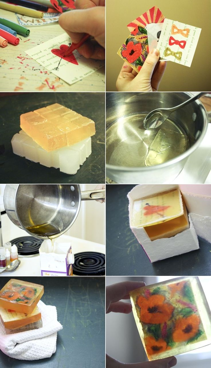 DIY: graphic soaps