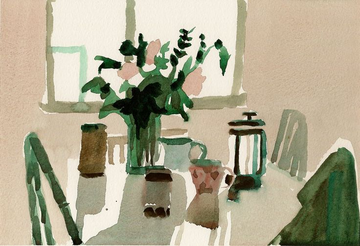 annamariapotamiti:  Annamaria Potamiti- Day 47- (a year at home in watercolor)