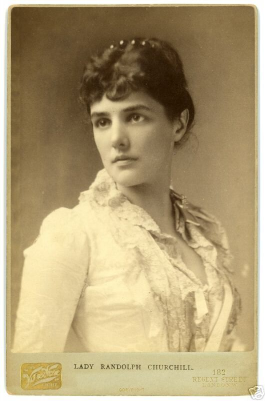 Lady Randolph Churchill, (January 9, 1854 – June 29, 1921), born Jeanette Jerome, was the American-born wife of Lord Randolph Churchill and the mother of British Prime Minister Winston Churchill.