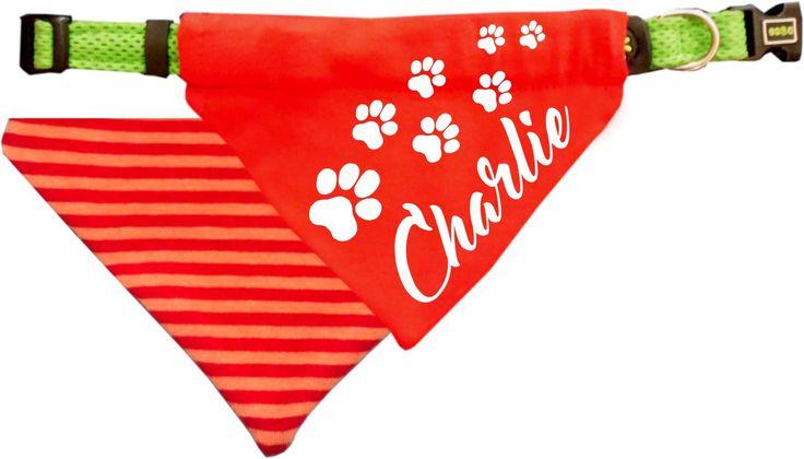 Der richtige Chic für den besten Freund – Hundeschal mit dem Namen des Tieres …   – Anziehsachen