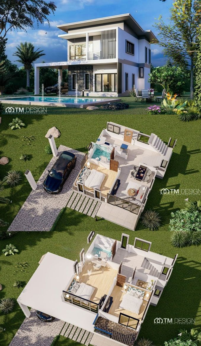 This Modern Two Storey House Design May Give You The Inspiration To Build Your Own Two Storey House Two Storey House Plans Architectural House Plans