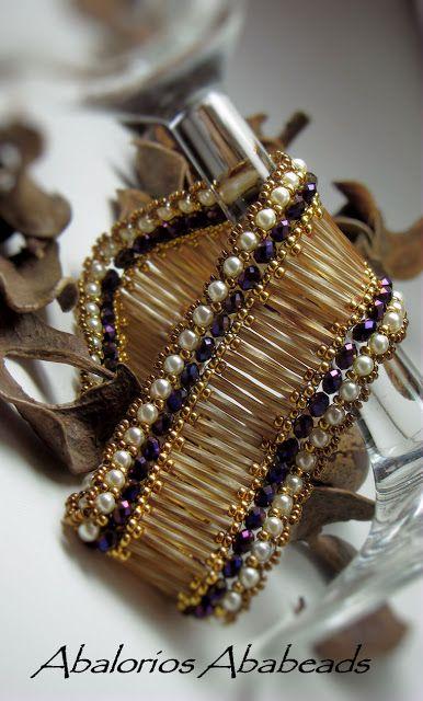 Cuff bracelet by Abalorios Ababeads (Cristina Hernandez)