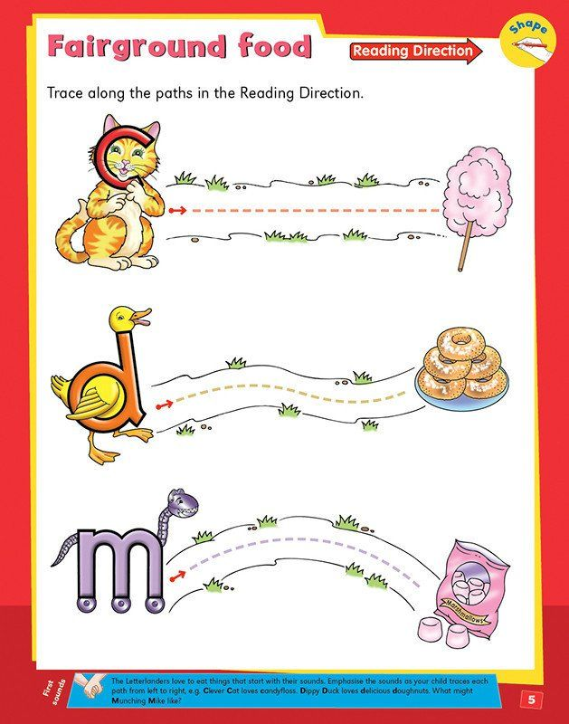 This fun-filled activity book is a great starting point for helping your child to discover the fascination of letter shapes and sounds. Hundreds of thousands of