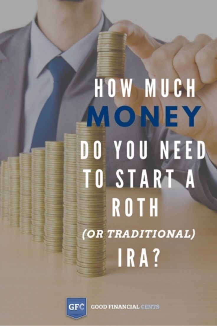 How Much Money do you Need Start Roth (or Traditional) IRA  || Good Financial Cents