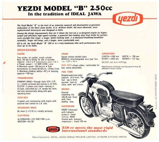 Yezdi -Only Ofroad Indian mobike