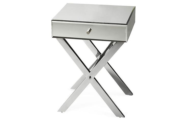 Mary Mirrored Side Table, Silver Now: $289.00 							Was: $395.00