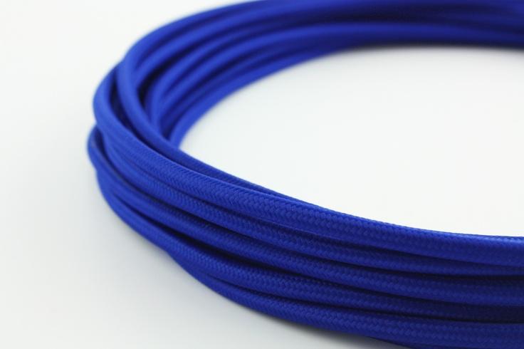 Blauw strijkijzersnoer